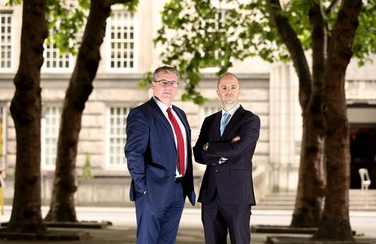 David Walsh - CEO, Netwatch and Andrew Bourg - Investment Director, BDO Development Capital Fund. Pic: Jason Clarke Photography