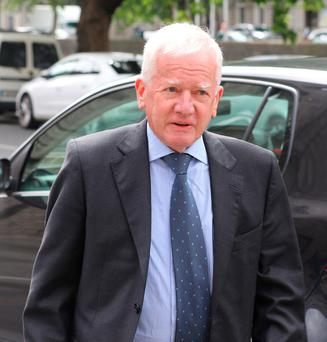 Former High Court Judge Barry White, pictured arriving at the Four Courts this week for judgement in a High Court action. Pic: Collins Courts