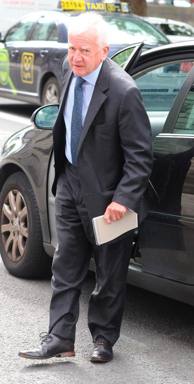 Former High Court Judge Barry White, pictured arriving at the Four Courts this week for judgement in a High Court action.Pic: Collins Courts