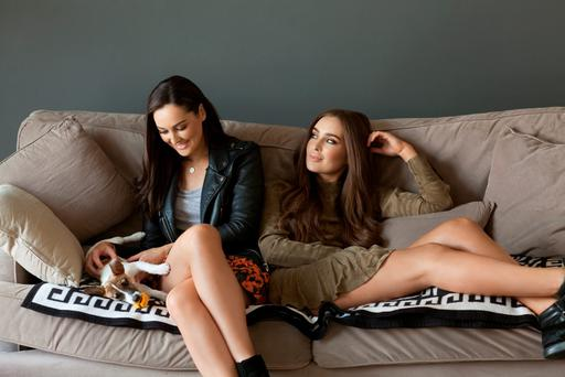 Rachel and Roz Purcell, who live together in Dublin and are involved in Natural Born Feeder. Photo: Naomi Gaffey