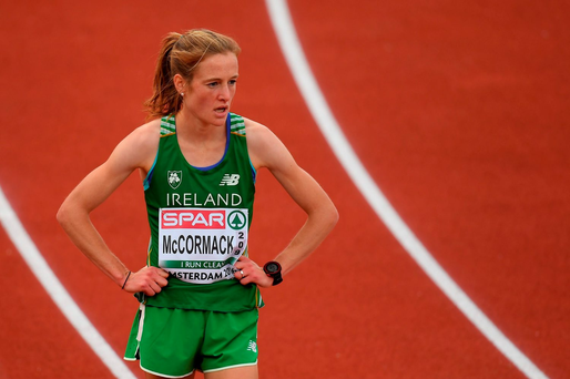 Fionnuala McCormack of Ireland after finishing fourth in the Women's 10000m final on day one of the 23rd European Athletics Championships