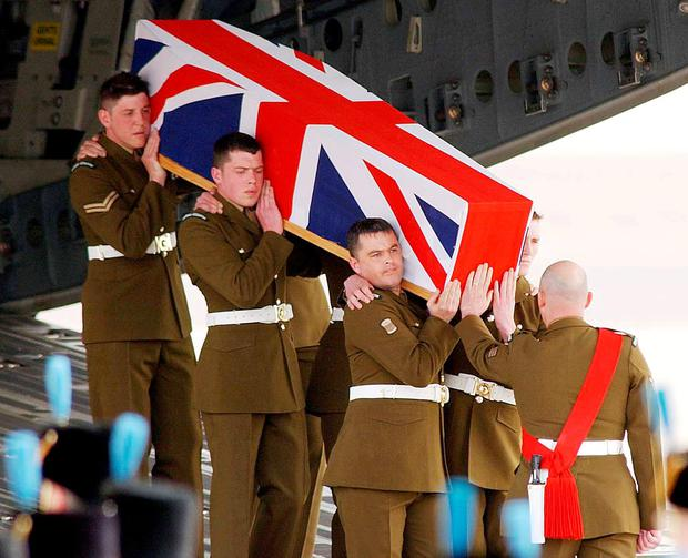 Ian Malone's body arrives in the UK. Photo: David Jones/Reuters Photo: REUTERS / POOL / David Jones