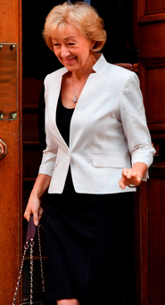 Conservative Party leadership hopeful Andrea Leadsom on her way to the House of Commons Photo: Jeff J Mitchell/Getty Images