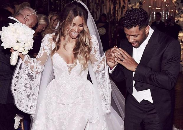 Ciara and Russell Wilson wed in Cheshire. Picture: Instagram