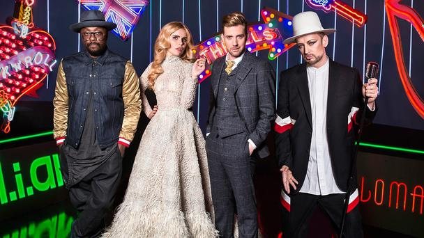 The Voice UK 2015 panel. Photo: BBC