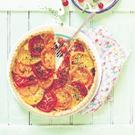 Tomato tart with mustard and honey.