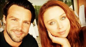 Una Healy on holidays with husband Ben Foden in Sardinia. Picture: Instagram