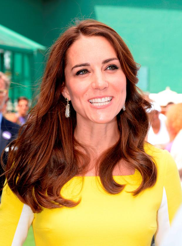 The Duchess of Cambridge during a visit to the Lawn Tennis Championships at the All England Lawn Tennis Club in Wimbledon