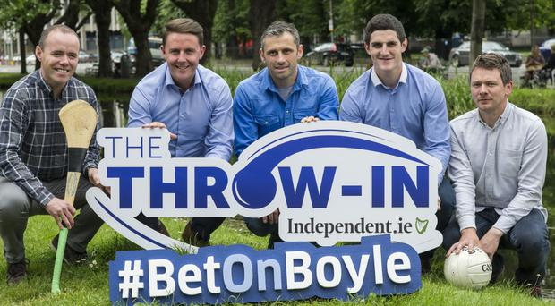 At the launch of Independent.ie's GAA Championship podcast (l-r): Frank Roche, Leon Blanche BoyleSports, Alan Brogan, Michael Verney, and Conor McKeon.