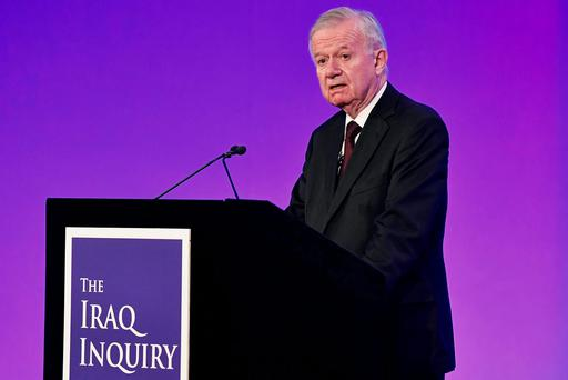 Sir John Chilcot presents The Iraq Inquiry Report at the Queen Elizabeth II Centre in London Photo: REUTERS/Jeff J Mitchell/Pool