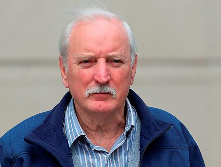 Ivor Bell leaves Belfast Magistrates' Court yesterday Photo: Niall Carson/PA Wire