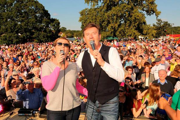 Singer Daniel O'Donnell and his wife Majella, pictured at the event