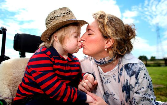 Aisling McNiffe, pictured with her son Jack (11), who attends St Raphael's School in Celbridge, Co Kildare Photo: Gerry Mooney