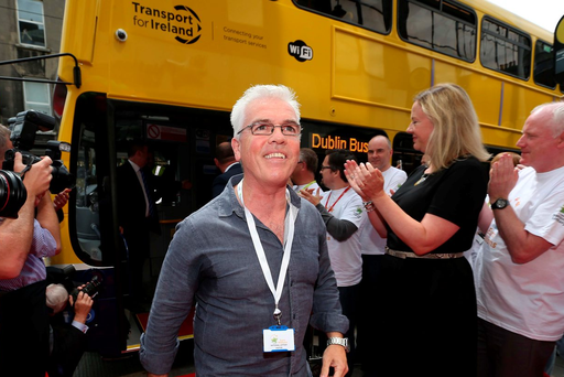 Lottery winner David Doherty arrives at National Lottery HQ yesterday Picture: Colin Keegan/Collins Dublin