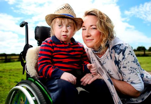 Aisling McNiffe and her son Jack (11), who attends St Raphael's Photo: Gerry Mooney
