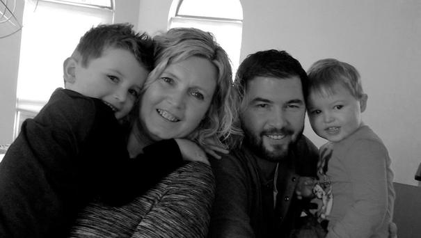 Darren Heffernan, his wife Sharon Walsh and their sons Sean (4) and Craig (2)