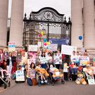 The Connolly for Kids group outside the Dáil