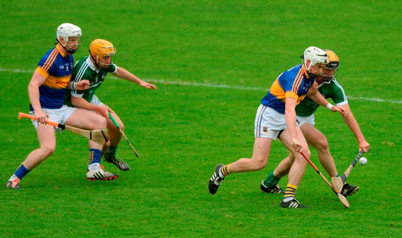Brendan Maher and Michael Breen – seen here in the semi-final against Limerick – have provided a solid midfield platform for Tipperary Photo by Daire Brennan/Sportsfile
