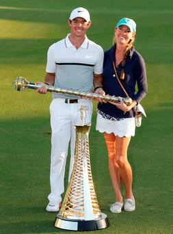 Rory McIlroy and his fiancée Erica Stoll Photo: Reuters / Paul Childs