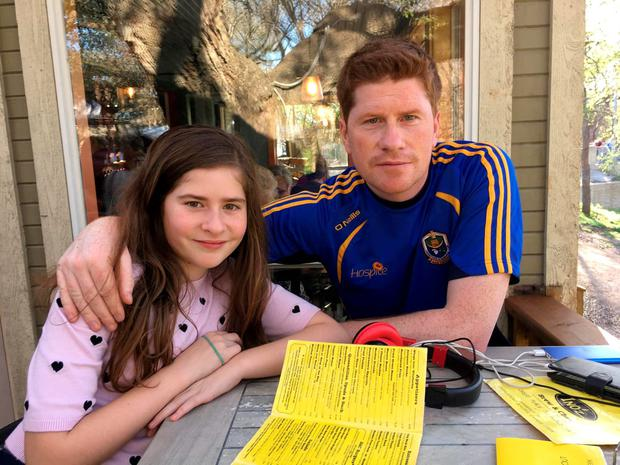 Eddie Geraghty and his daughter Rania (11), who live in Dallas