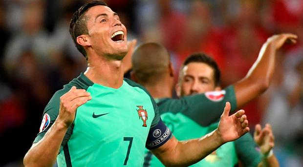 Ronaldo approaches the match fresh from another historic display, having equalled Michel Platini's record of nine European Championship goals Picture credit: Philippe Desmazes/AFP/Getty Images