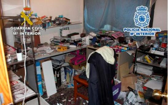 Spanish police released this images of the apartment's conditions