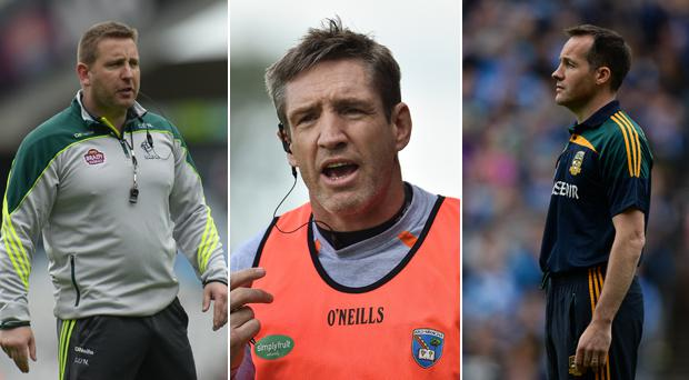 Cian O'Neill, Kieran McGeeney and Mick O'Dowd are under pressure in football mad counties