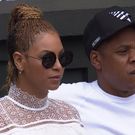 Beyonce and Jay Z at Wimbledon. Photo: Twitter / BBC
