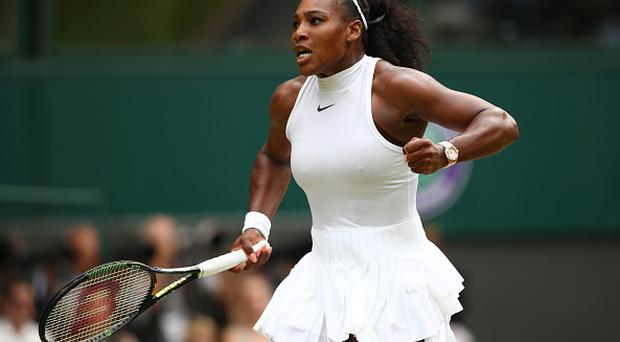 LONDON, ENGLAND - JULY 09: Serena Williams of The United States celebrates during The Ladies Singles Final against Angelique Kerber of Germany on day twelve of the Wimbledon Lawn Tennis Championships at the All England Lawn Tennis and Croquet Club on July 9, 2016 in London, England. (Photo by Clive Brunskill/Getty Images)