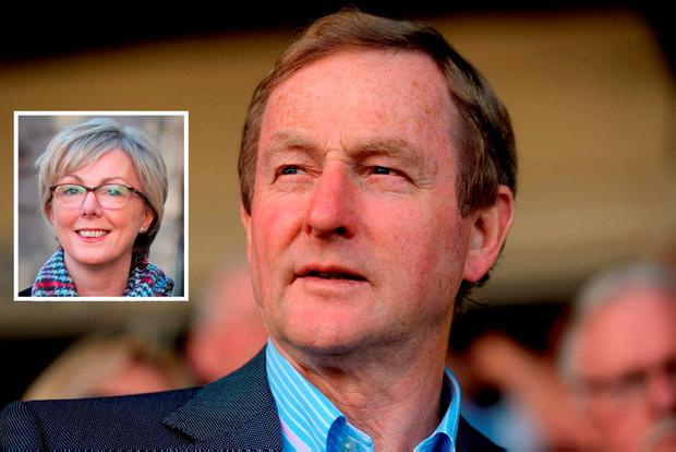 A handful of backbench TDs have held talks over whether they will table motions on Enda Kenny's leadership of Fine Gael while Chief Whip Regina Doherty (inset) reversed her earlier position that the Taoiseach should outline a timetable for his departure