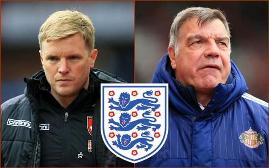 Eddie Howe and Sam Allardyce are the leading contenders for the England job CREDIT: PA