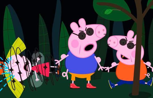 Distorted videos of child-friendly cartoon Peppa Pig
