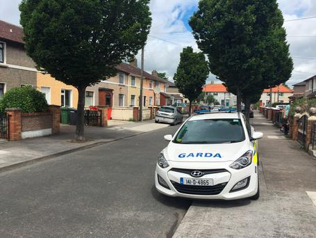 Scene on Cuala Road (Photo: Cathal McMahon)