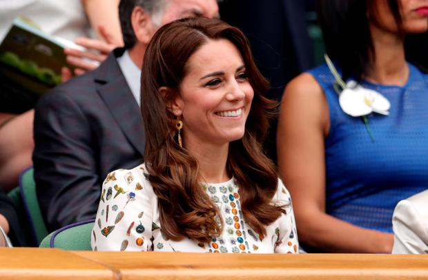 Kate Middleton in the royal box on day thirteen of the Wimbledon Championships at the All England Lawn Tennis and Croquet Club, Wimbledon. PRESS ASSOCIATION Photo. Picture date: Sunday July 10, 2016.