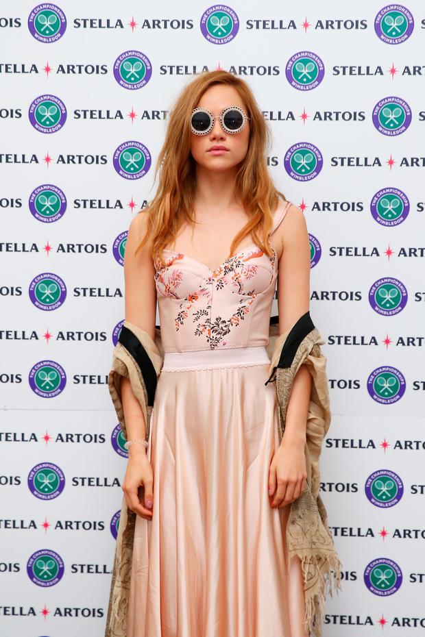 Model, Suki Waterhouse attends The Championships, Wimbledon, with Stella Artois on July 10, 2016 in London. (Photo by Jordan Mansfield/Getty Images)