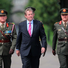 Taoiseach Enda Kenny at Royal Hospital Kilmainham, Dublin yesterday. Photo: Stephen Collins