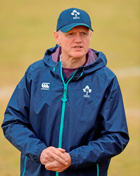 Ireland head coach Joe Schmidt during squad training at St David Marist School in Sandton, Johannesburg, South Africa. Photo: Sportsfile