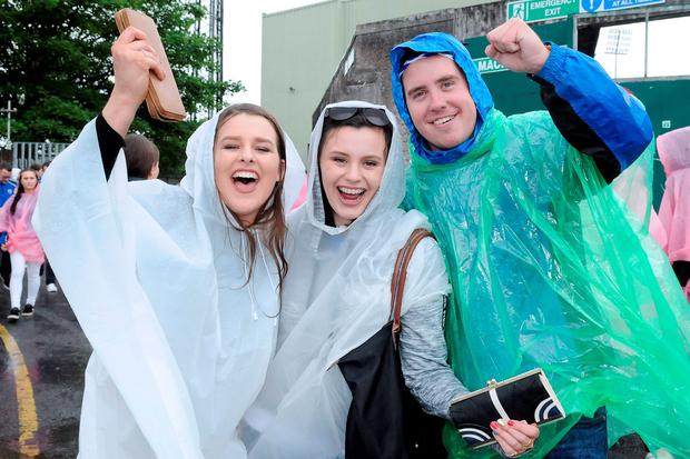 Janet Patterson, Eimear O'Donnell and Cian O'Halloran from Dungarvan. Photo: Gareth Williams