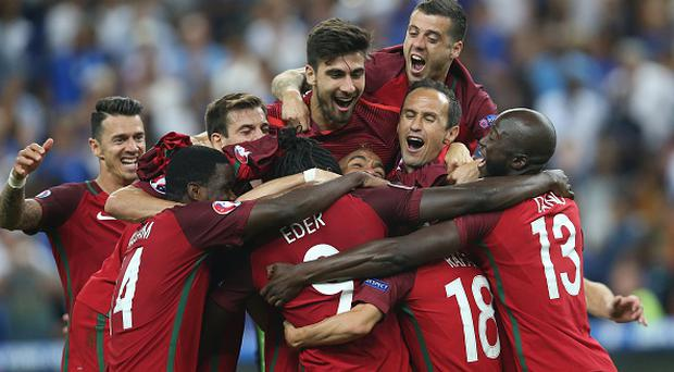 Eder of Portugal during the UEFA EURO 2016 final match between Portugal and France on July 10, 2016 at the Stade de France in Paris, France.(Photo by VI Images via Getty Images)