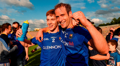 Cian Farrelly and Brian Kavanagh celebrate. Photo by Paul Mohan/Sportsfile