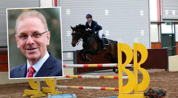 Paul Kelly (inset) and the horse bought for Kelly's daughter