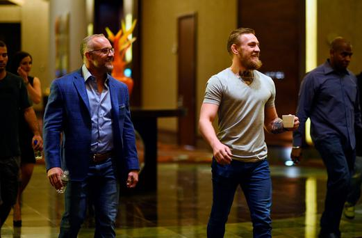 Conor McGregor with Lorenzo Fertitta