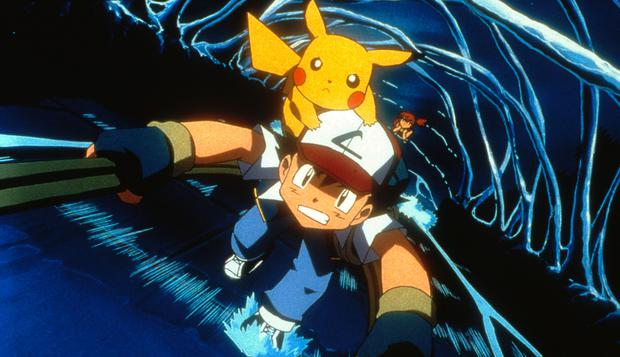 Ash, Pikachu and Misty (background) in 4Kids Entertainment's animated adventure