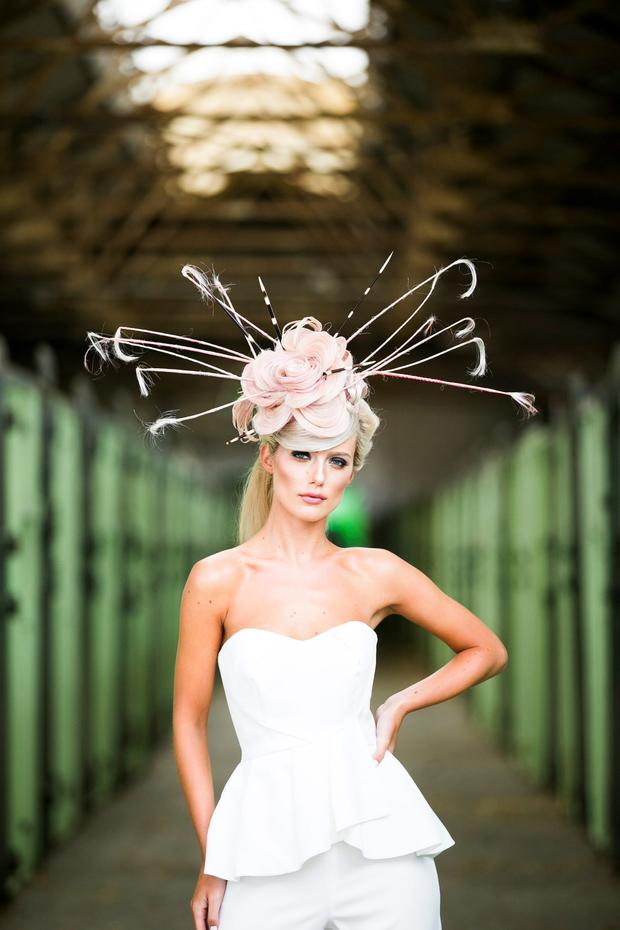 Can you believe this hat was made entirely out of hair extensions model gracie omahony pictured wearing a bespoke headpiece created out of great lengths hair pmusecretfo Gallery