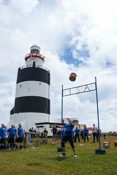The Strongman Competition at the Hook Lighthouse in Co Wexford.