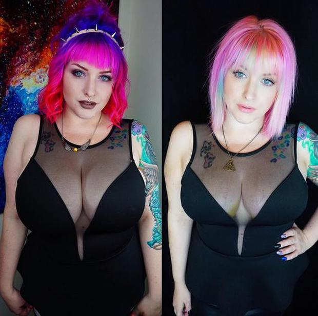 Talia underwent breast reduction surgery to go from a J cup to a DD Photo Credit: Instagram: @pretty_kitty_meow