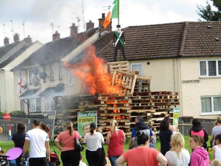 The Eleventh Night bonfire sparked outrage. Photo: Twitter/John O'Dowd