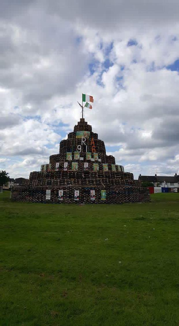 The Eleventh Night bonfire sparked outrage. Photo: Twitter/Catherine Seeley