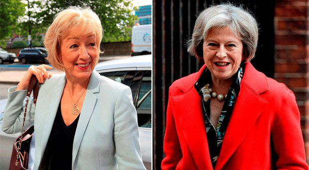 British politician Andrea Leadsom (left) suggested that being a mother gave her an edge over childless rival Theresa May.