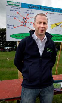 Teagasc genetic expert Donagh Berry at Beef 2016. Photo: Tony Gavin.